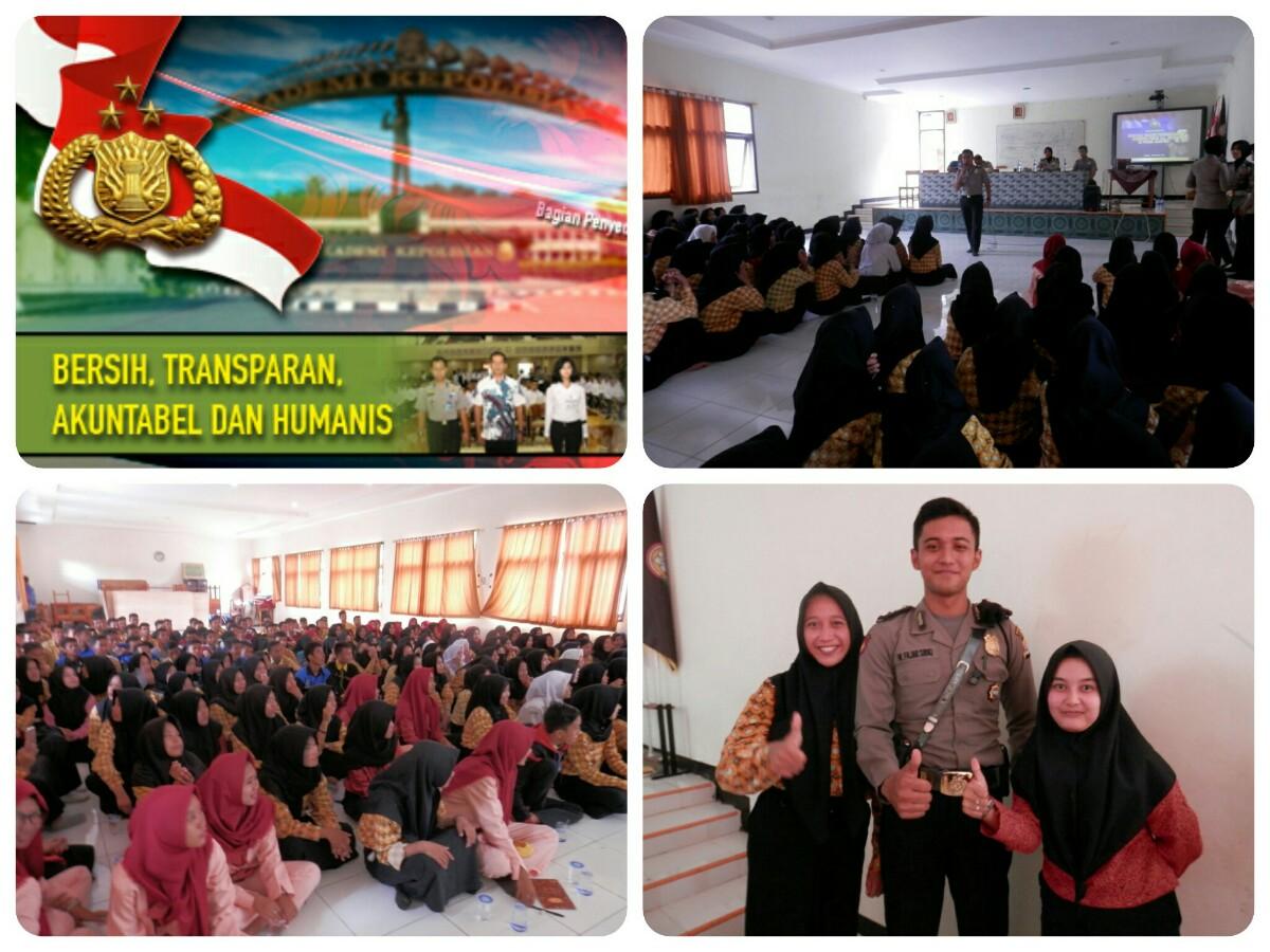 Kegiatan sosialisasi penerimaan Polri T.A. 2017 di SMKN 3 Kota Serang, Kamis (01/12/2016)