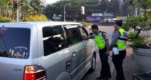 Kapolresta Tangerang saat menyapa warga di pagi hari