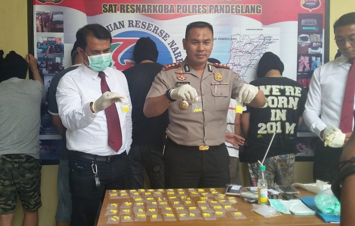 press release kapolres pandeglang,kasat narkoba polres pandeglang