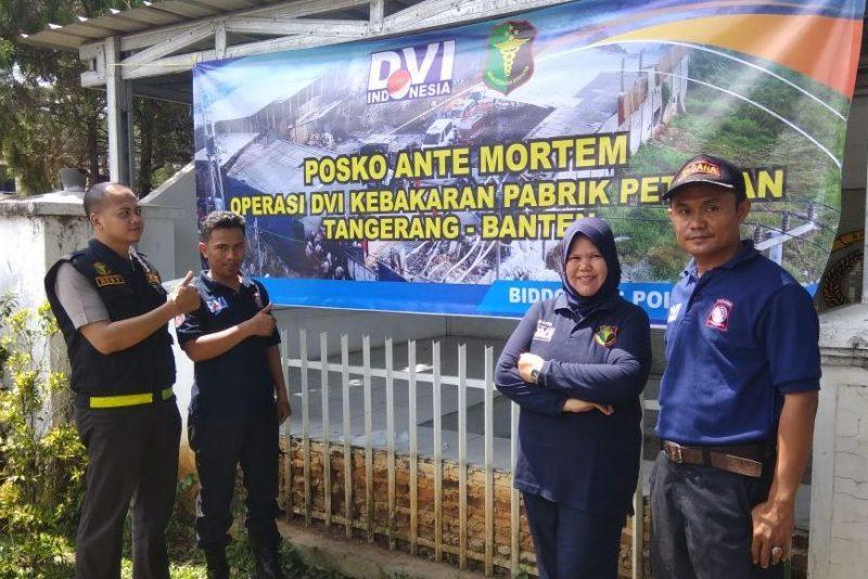 Polda Banten Dirikan Posko Ante Mortem Untuk Korban Ledakan Pabrik Petasan di Tangerang